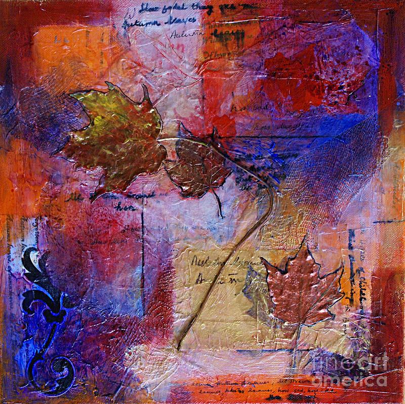Mixed Media Mixed Media - Autumn Leaves by Ishita Bandyo