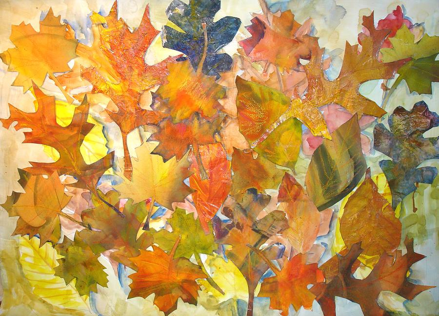 Autumn Mixed Media - Autumn Leaves by Joyce Kanyuk