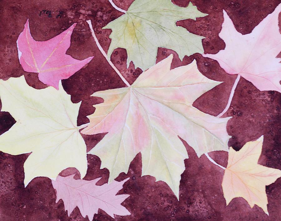 Autumn Painting - Autumn Leaves by Laurel Best