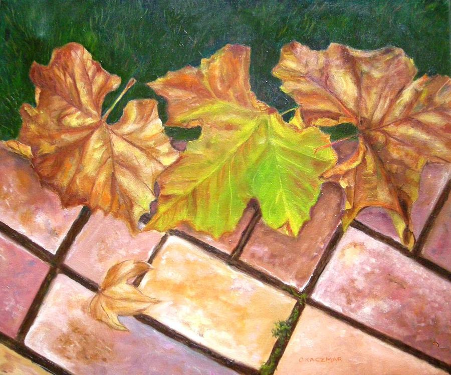 Leaves Painting - Autumn Leaves by Olga Kaczmar