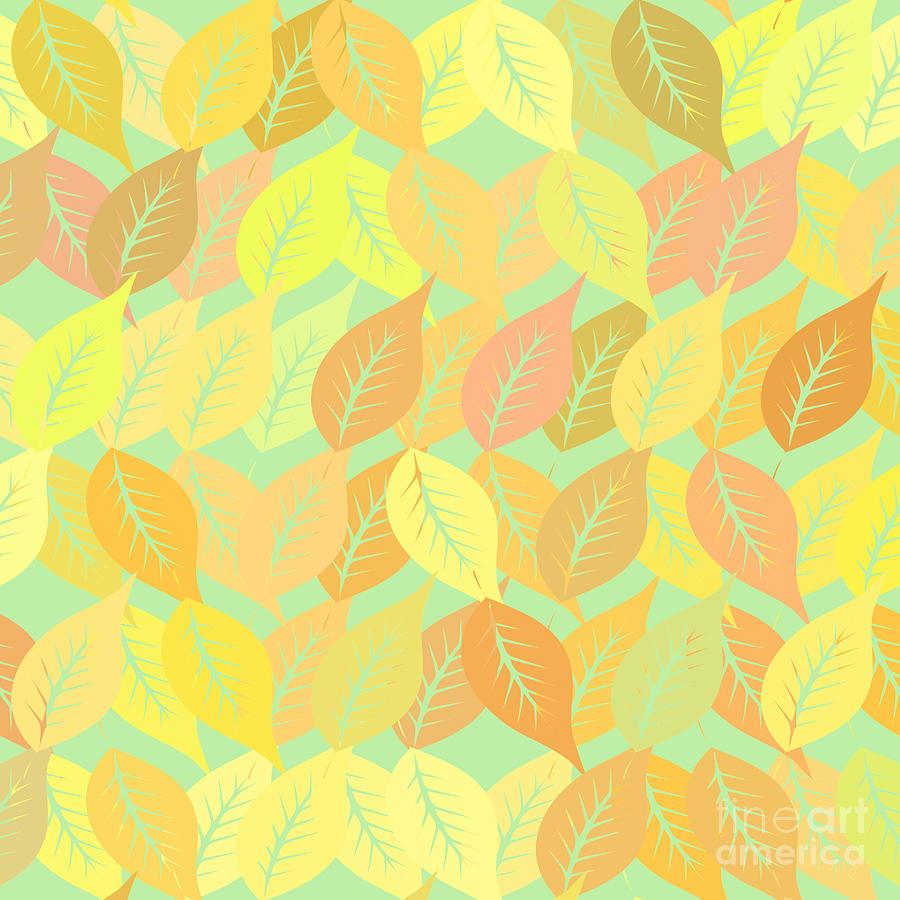 Pattern Digital Art - Autumn Leaves Pattern by Gaspar Avila