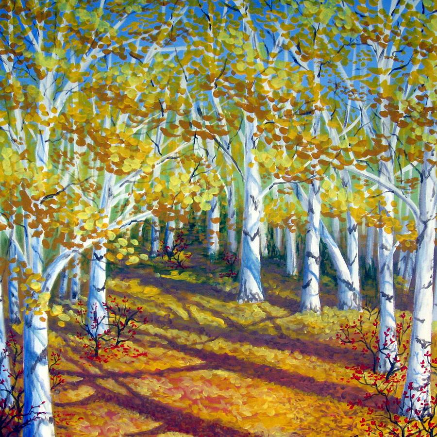 Autumn Painting - Autumn Light by Sharon Marcella Marston