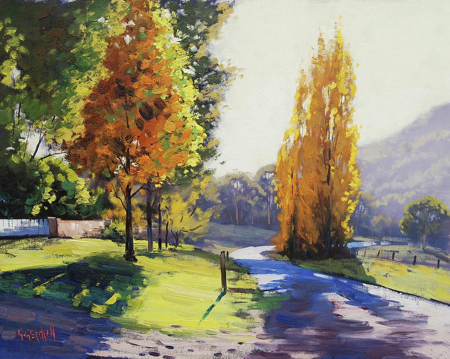 Fall Painting - Autumn Light Tarana by Graham Gercken