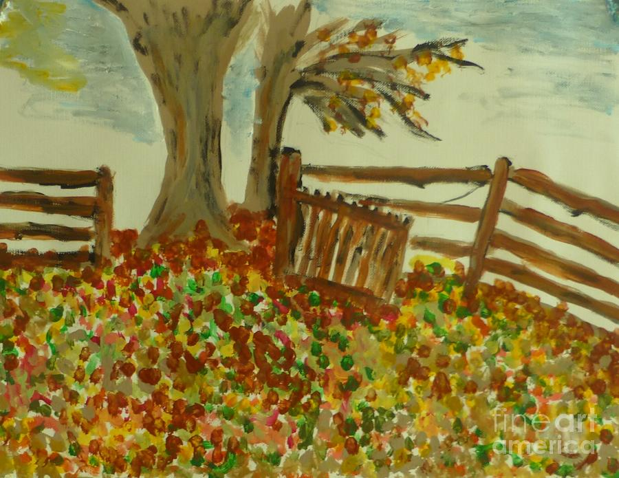 Landscape Painting - Autumn by Marie Bulger
