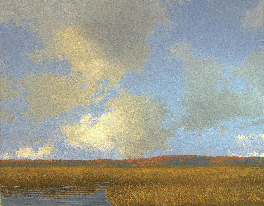 Landscape Painting - Autumn Marsh by Eric Angeloch