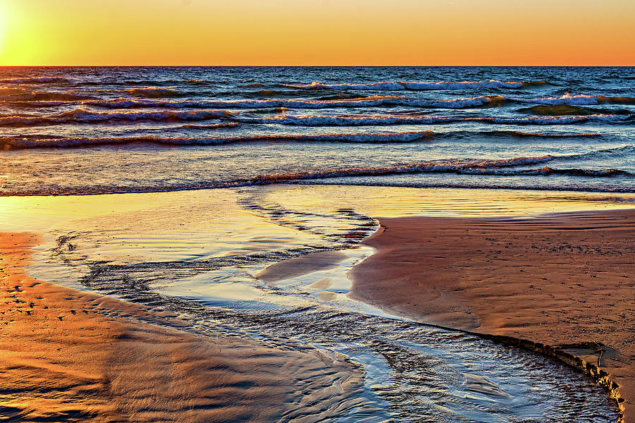 Steve Harrington Photograph - Autumn Merging - Sauble Beach 6 by Steve Harrington