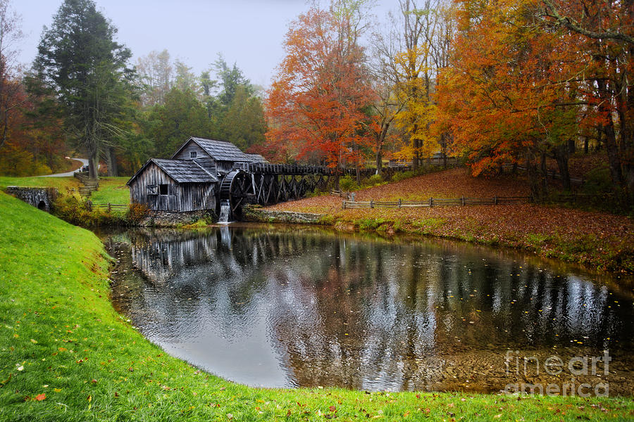 Landscape Photograph - Autumn Mill by Tom Gari Gallery-Three-Photography