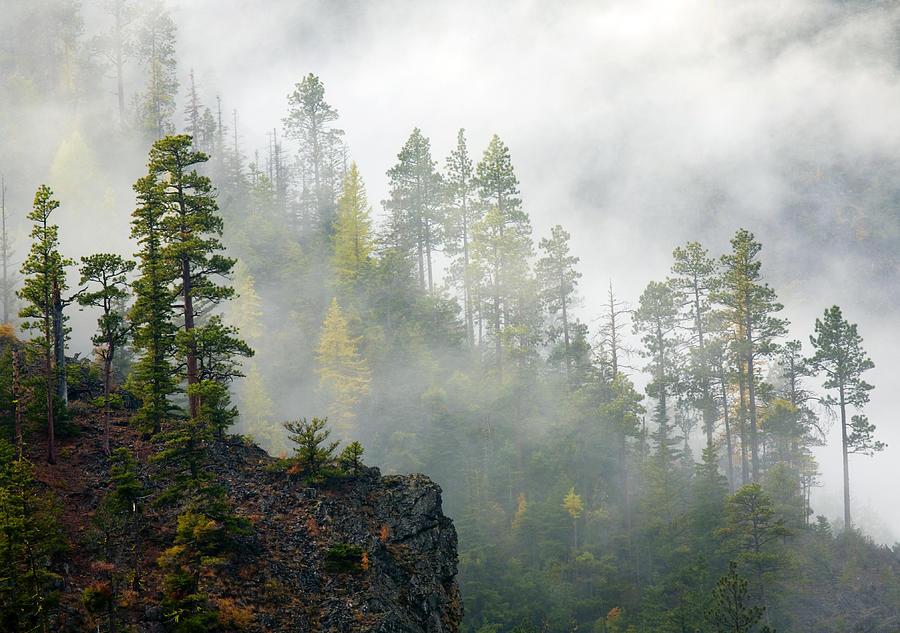 Ridges Photograph - Autumn Mist by Mike  Dawson