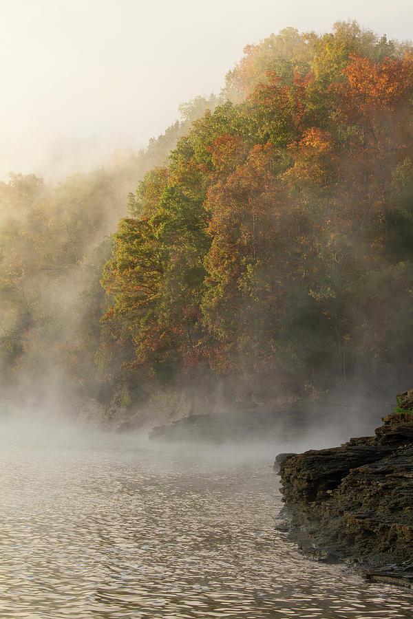 Autumn Mist On Dale Hollow Lake Photograph