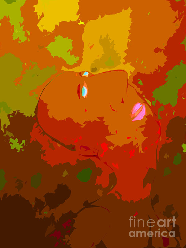 Abstract Painting - Autumn by Mitch Messmore