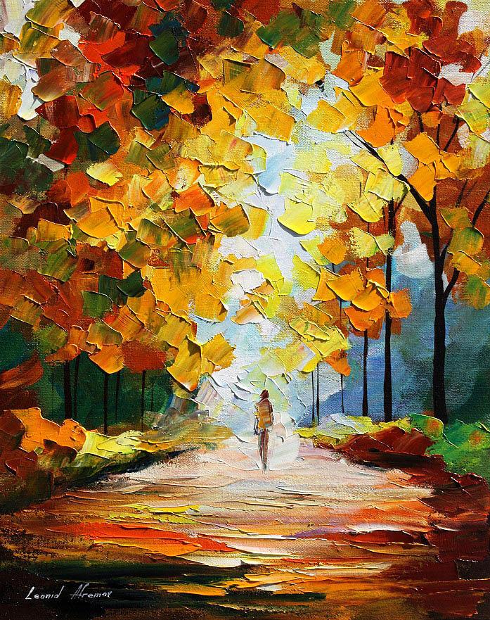 Landscape Painting - Autumn Mood by Leonid Afremov