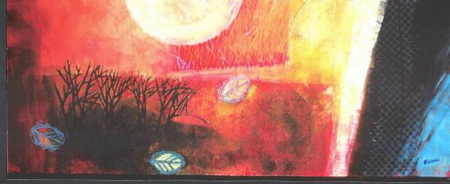Landscape Painting - Autumn Moon by Kat Naquin