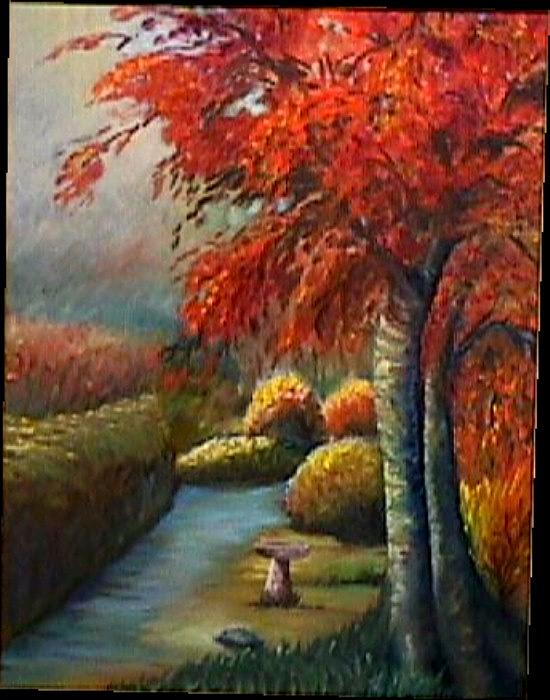 Oil Painting - Autumn Morning by Janine Shideler