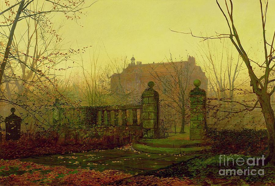 Autumn Painting - Autumn Morning by John Atkinson Grimshaw