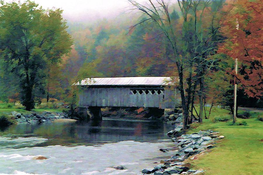 Covered Bridges Photograph - Autumn Morning Mist by Dan Dooley