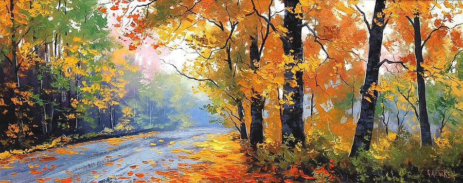 Fall Painting - Autumn Mt Wilson by Graham Gercken