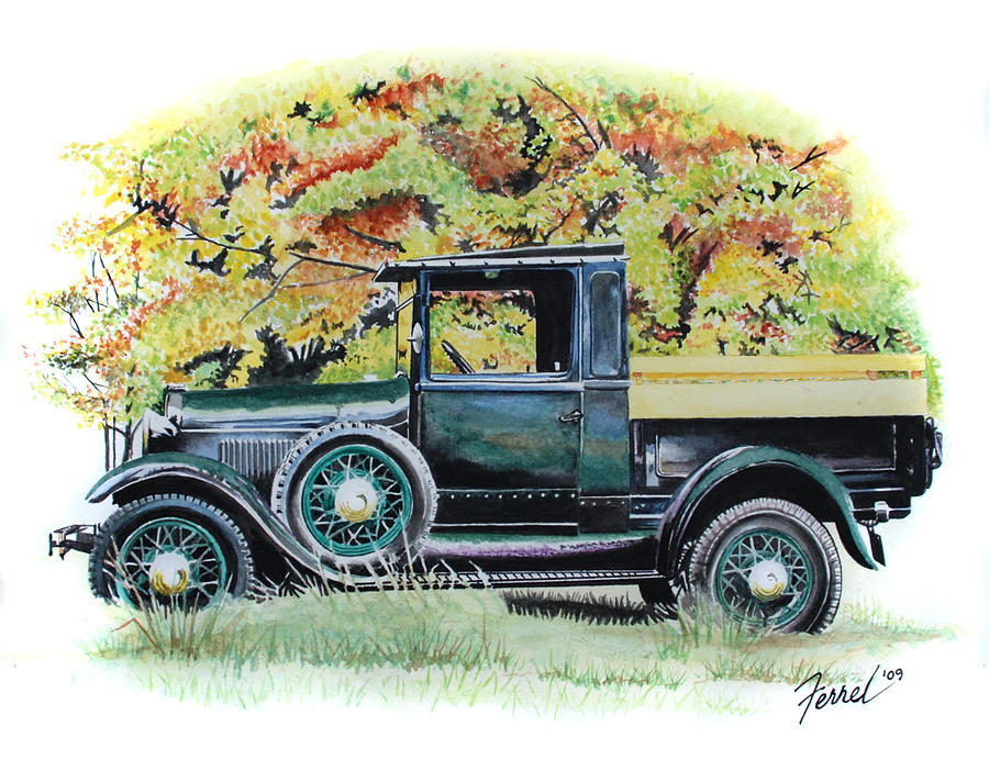 Truck Painting - Autumn Of Life by Ferrel Cordle
