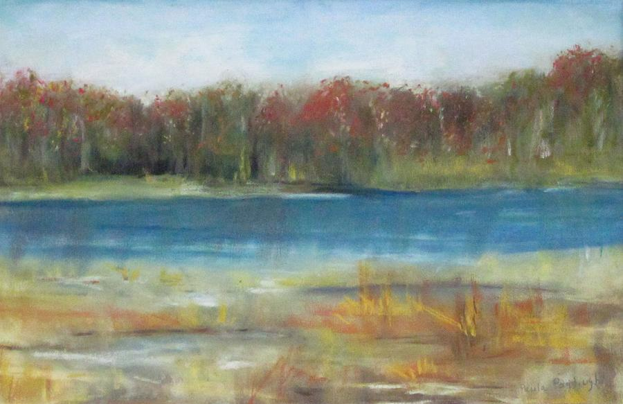 Pastel Painting - Autumn On The Maurice River by Paula Pagliughi