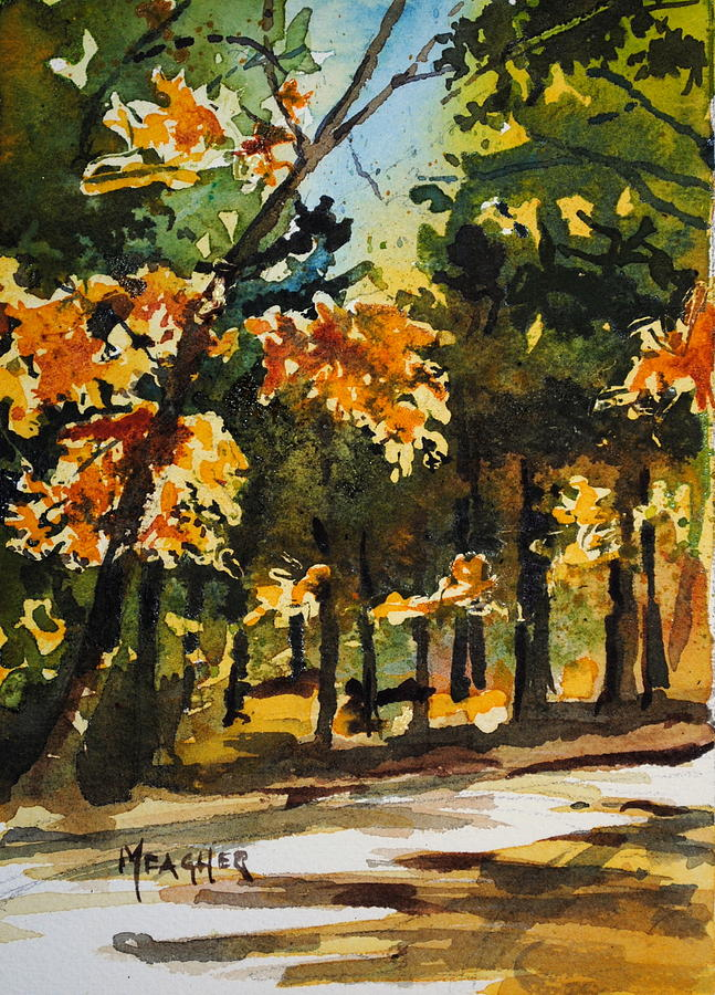 Natchez Trace Painting - Autumn On The Natchez Trace by Spencer Meagher