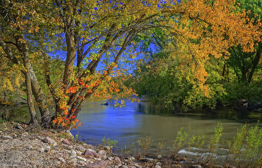 Landscapes Photograph - Autumn On The North Raccoon by Bruce Morrison