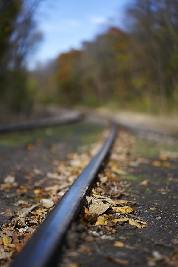 Des Moines Photograph - Autumn On The Rails by Matt Veldey