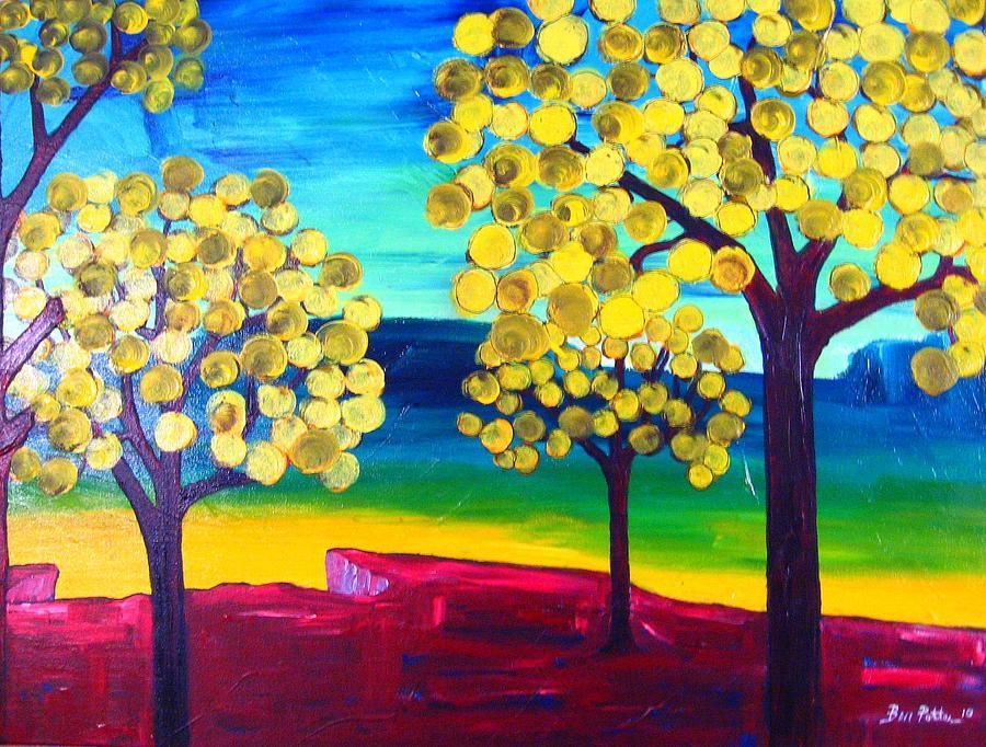 Landscape Painting - Autumn On The Ridge by Ben Potter