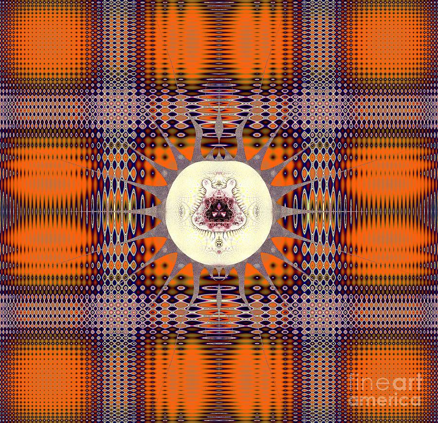 Autumn Orange Plaid Digital Art