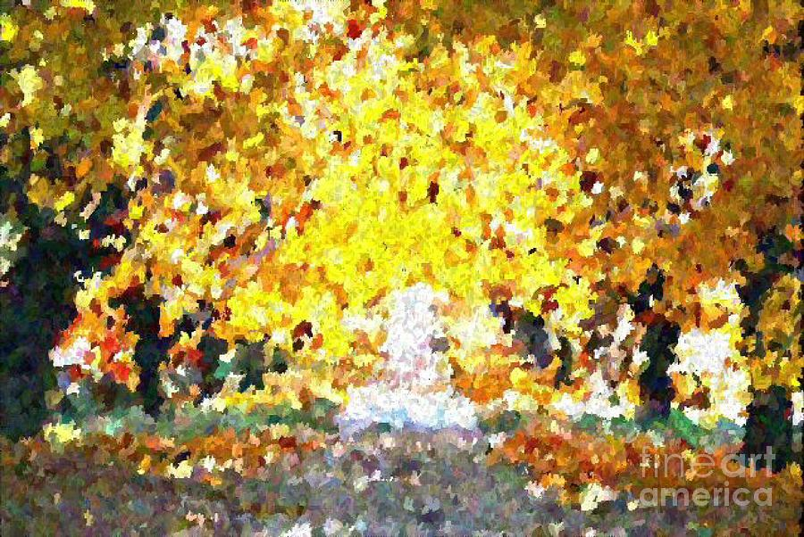 Abstract Painting - Autumn Path by Don Phillips