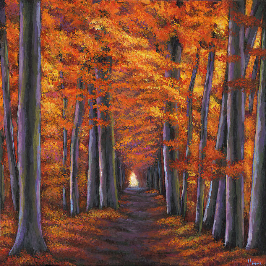 Landscape Painting - Autumn Path by Johnathan Harris
