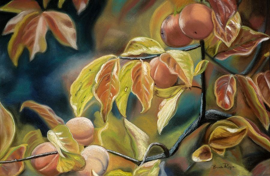 Autumn Painting - Autumn Peaches by Brenda Williams