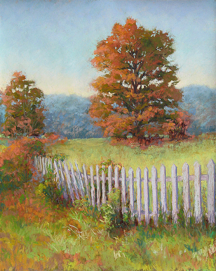 Landscape Painting - Autumn Pickets by Marsha Savage