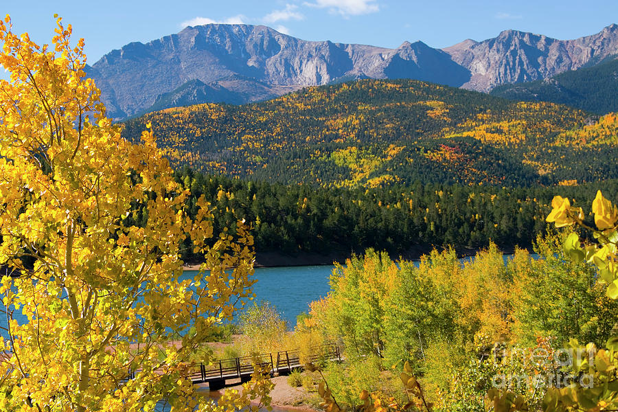 Autumn Pikes Peak And Crystal Reservoir Photograph