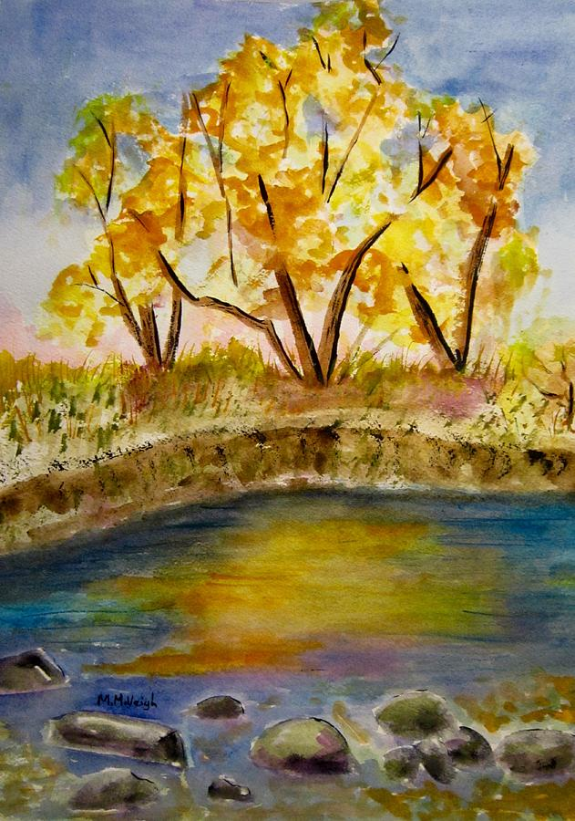 Autumn Painting - Autumn Pond by Marita McVeigh