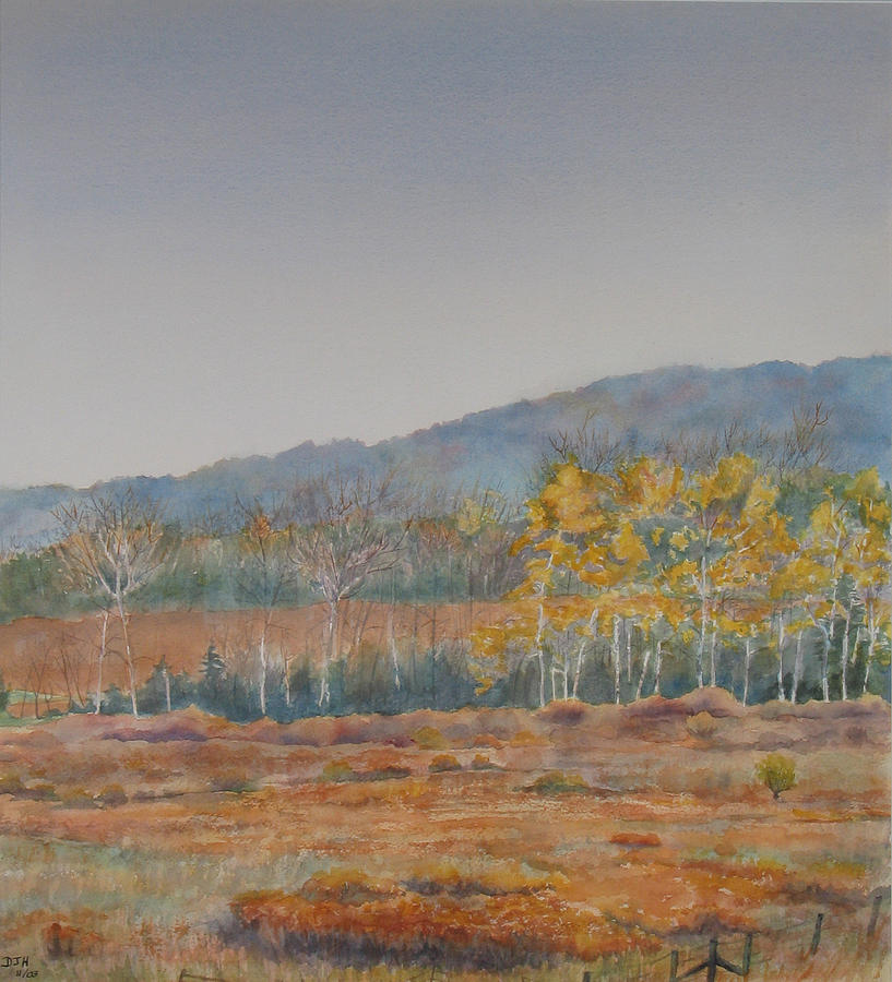 Autumn Painting - Autumn Poplars by Debbie Homewood