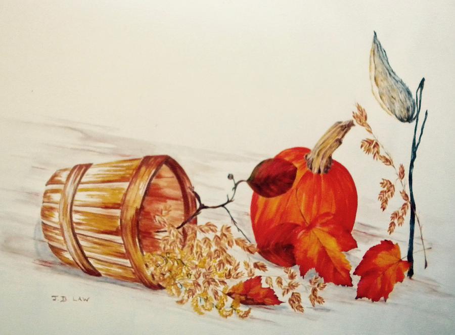 Autumn Pumpkin Still Life by Jan Law