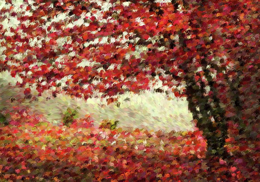 Fall Digital Art - Autumn Radiance Impressionism Wall Art by Georgiana Romanovna
