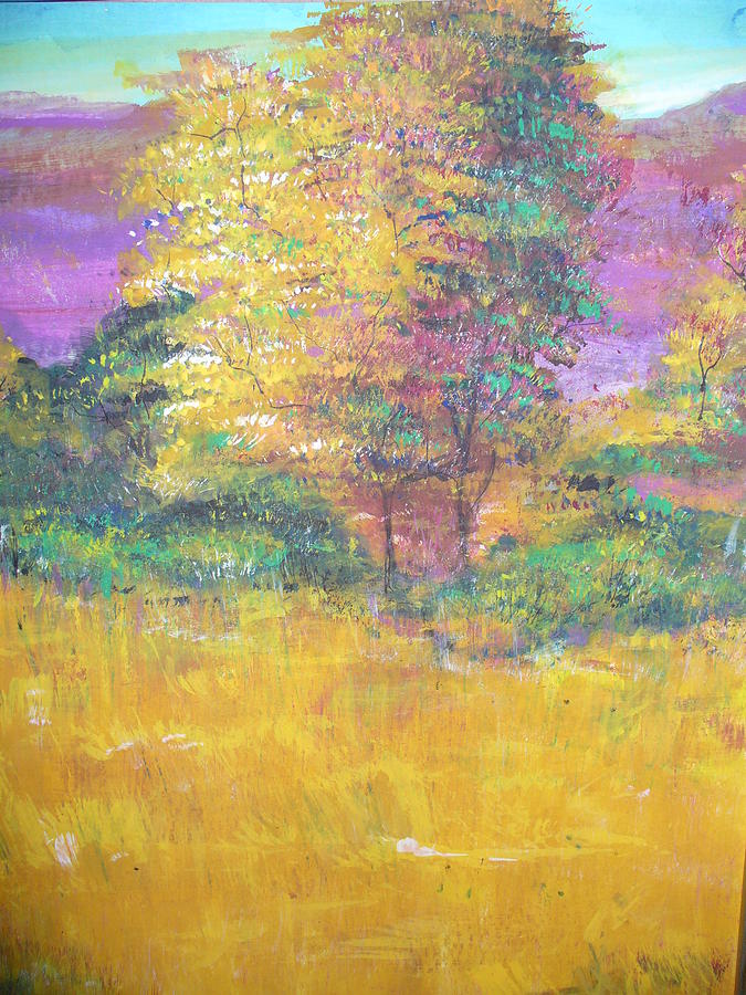 Landscape Painting - Autumn by Raza Mirza