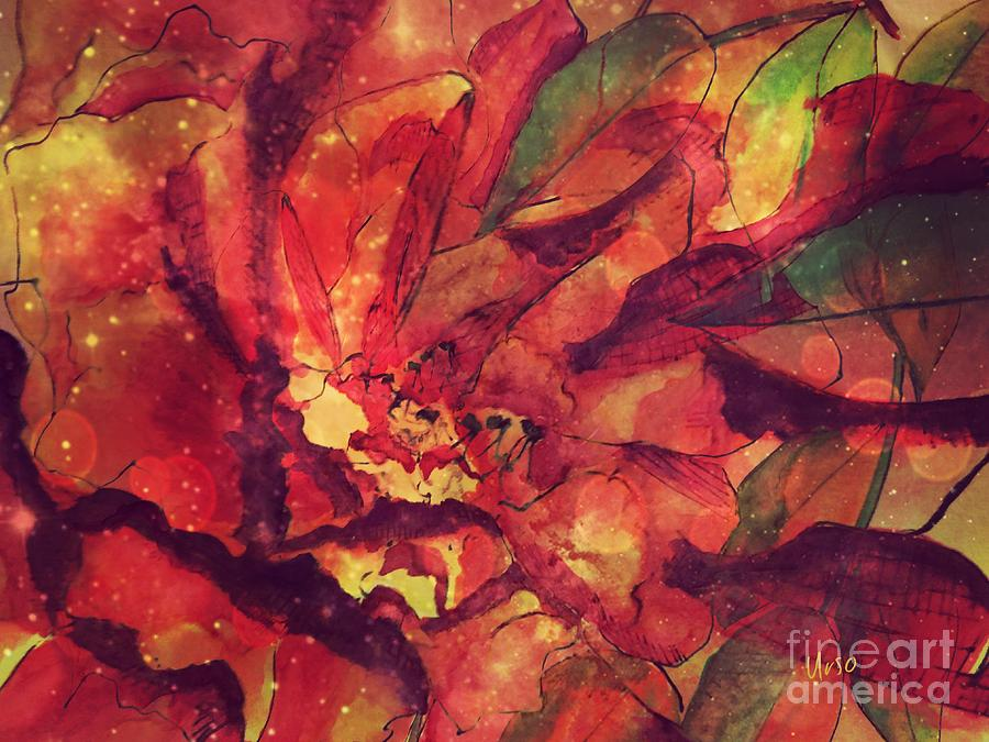 Autumn Red Mixed Media - Autumn Red  by Maria Urso
