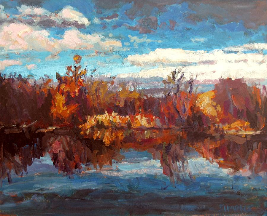 Paintings Painting - Autumn Reflection by Brian Simons