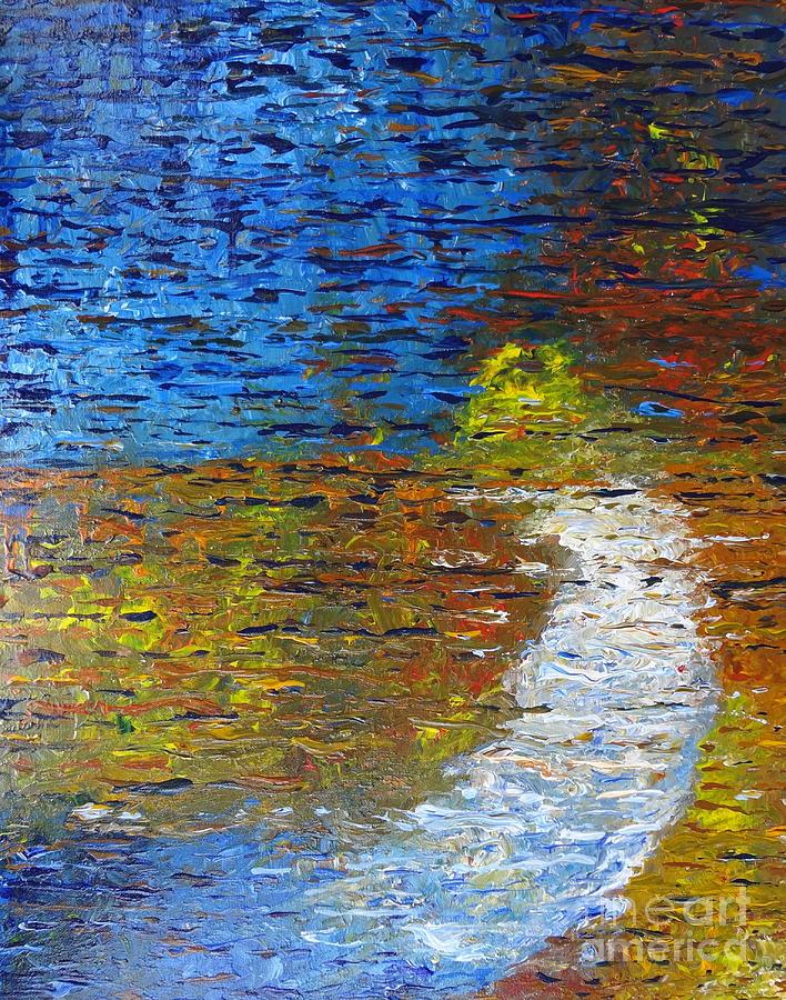 Autumn Reflection Painting - Autumn Reflection by Jacqueline Athmann
