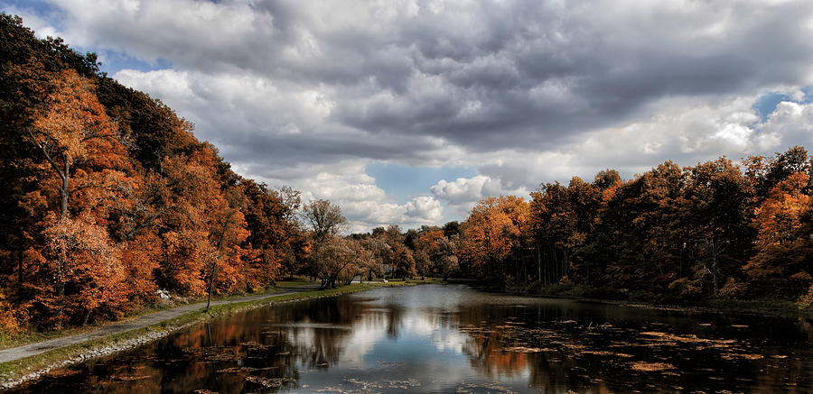 Autumn Photograph - Autumn Reflection  by Peter Chilelli