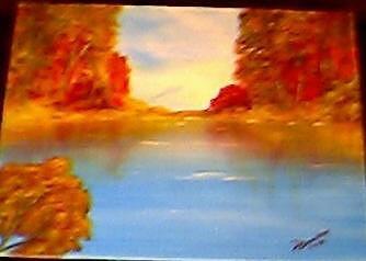 Autumn Reflections Painting by Doris Burnham