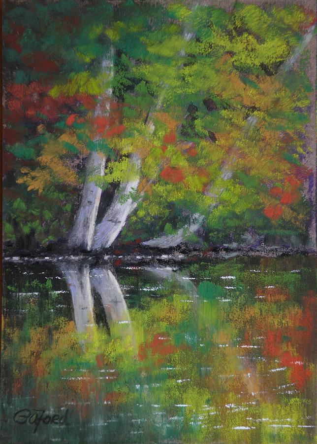Pastel Painting - Autumn Reflections by Paula Ann Ford