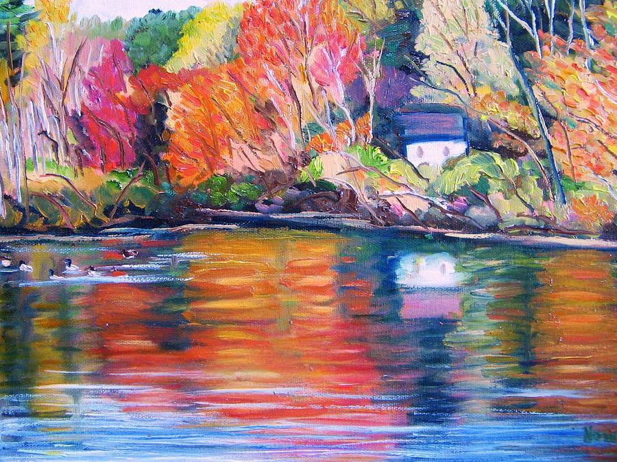 Autumn Painting - Autumn Reflections by Richard Nowak