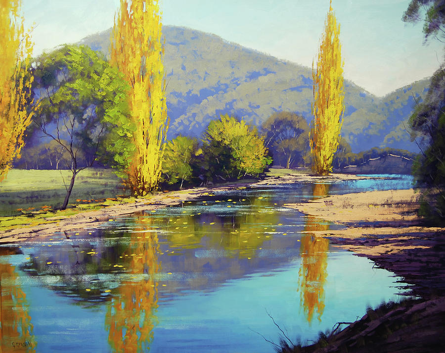 Autumn Reflections Tumut Painting