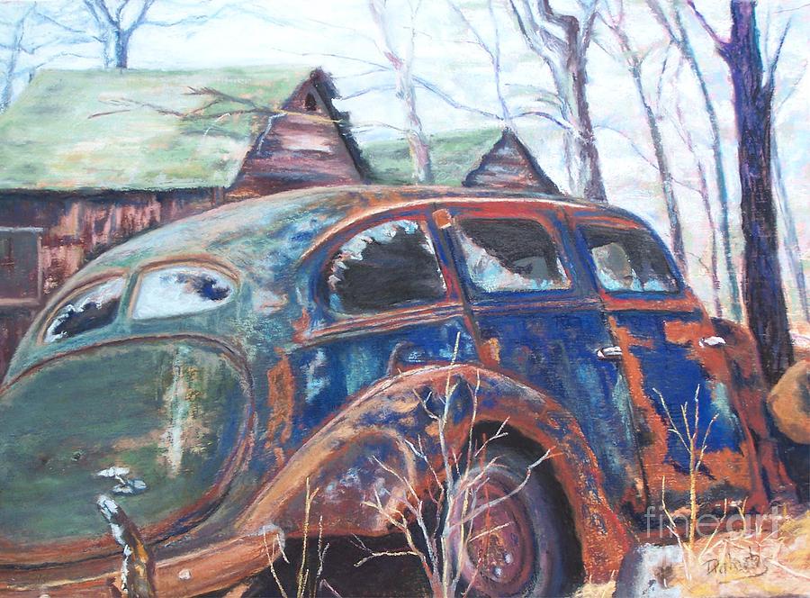 Vintage Auto Pastel - Autumn Retreat - Old Friend Vi by Alicia Drakiotes