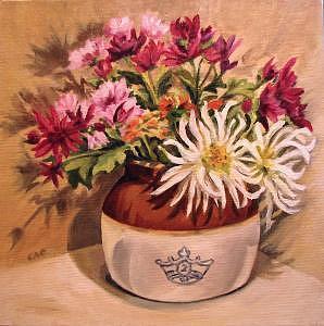 Floral Painting - Autumn Reward by Cheryl Pass