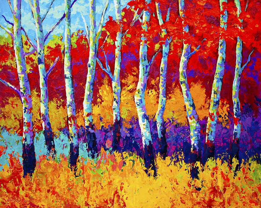 Trees Painting - Autumn Riches by Marion Rose