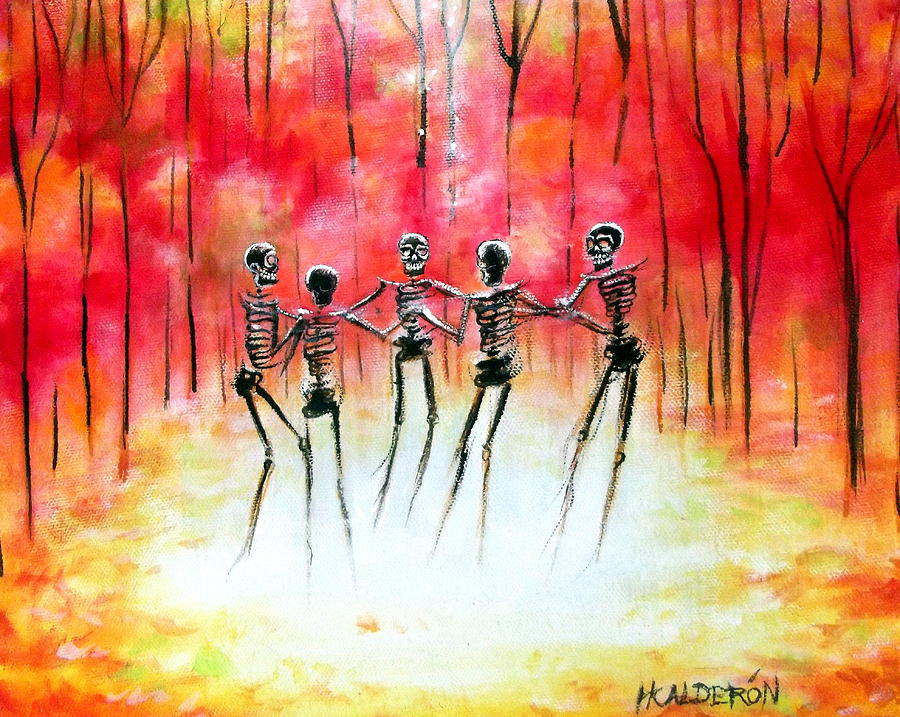 Day Of The Dead Painting - Autumn Ring by Heather Calderon