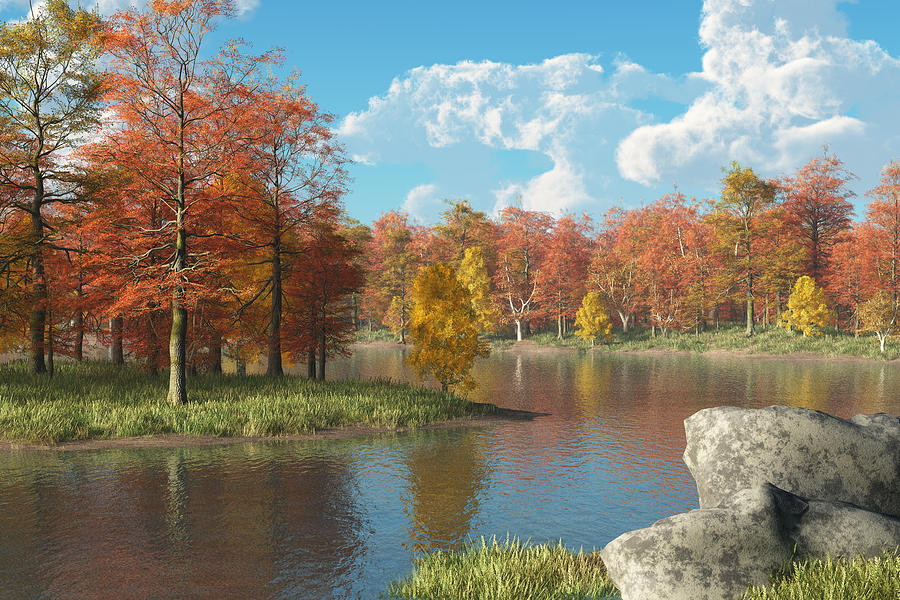 Autumn River Digital Art - Autumn River by Mindscape Arts